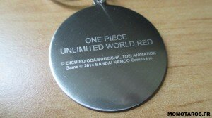 One Piece Unlimited World Red Chopper Edition porte clés verso